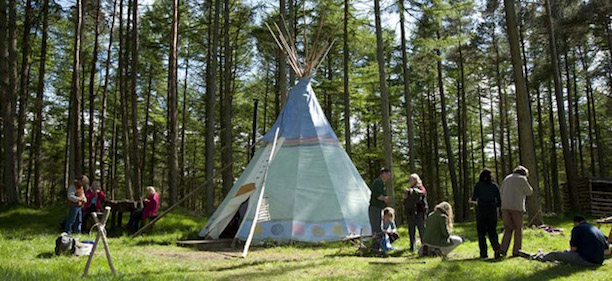 forest education initiative teepee