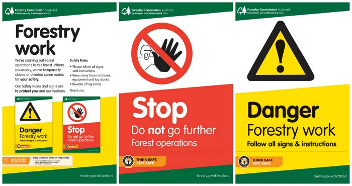 forest signs triptych small