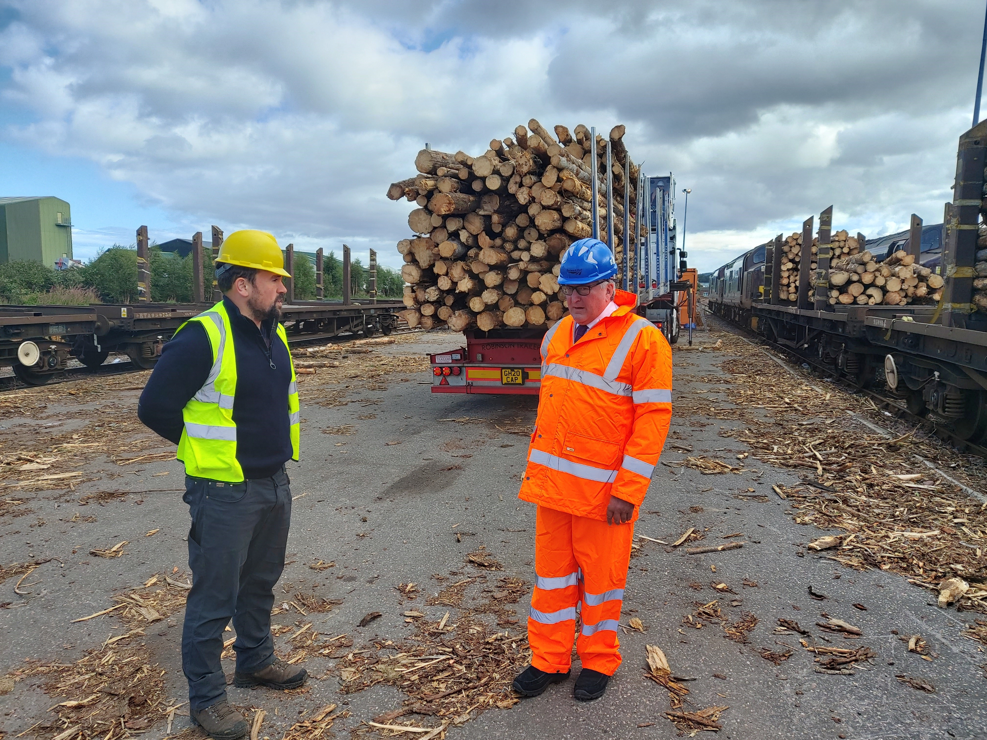 Timber rail trial on track
