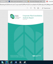 Corporate Plan Consultation Analysis Report 2020