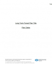 Long Term Forest Plan Template (A3)