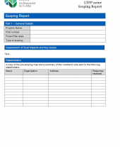 Long Term Forst Plan Scoping Template