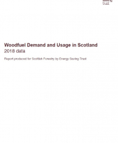Woodfuel Demand and Useage in Scotland 2018 report