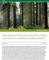 Assessing the Investment Returns from Timber and Carbon in Woodland Creation Projects: Research Note