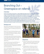 Branching Out: Greenspace on Referral