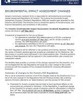 Briefing Note 10: Changes to EIA Regulations