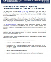 Briefing Note 18: Publication of GWDTE Practice Guide