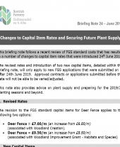 Briefing 24 - Changes to Capital Item Rates and Securing Future Plant Supply