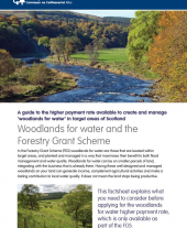 Woodlands for Water and the Forestry Grant Scheme