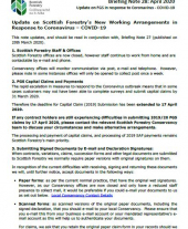 SF Briefing note 28 - SF response to Covid-19 outbreak 9 April 2020