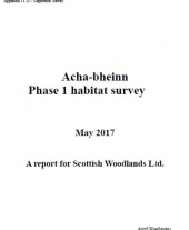 Acha-Bheinn Appendices: 11.13 Vegetation Survey