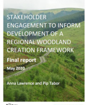 Stakeholder Engagement to Inform Development of a Regional Woodland Creation Framework -  Scottish Borders Pilot Areas 1 & 2