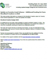 SF BRIEFING NOTE 31 - Farm Woodland Creation and Update on FGS Budget - July 2020