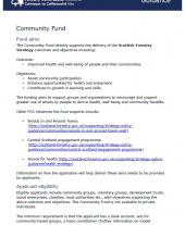 Community Fund Guidance