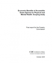 Economic Benefits of Accessible Green Spaces for Physical and Mental Health: Scoping Study