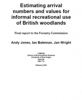 Estimating Arrival Numbers and Values for Informal Recreational Use of British Woodlands