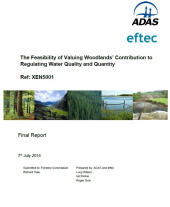 The Feasibility of Valuing Woodlands' Contribution to Regulating Water Quality and Quantity: Final Report