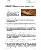 Forest Operations and Great Crested Newts in Scotland