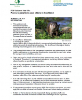 Forest Operations and Otters in Scotland