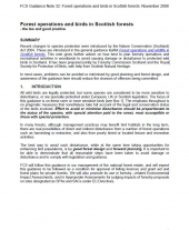 Forest Operations and Birds in Scottish Forests
