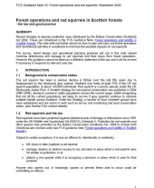 Forest Operations and Red Squirrels in Scottish Forests