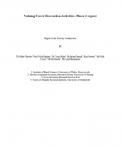 Valuing Forest Recreation Activities 2006: Phase 1 Report