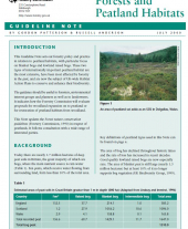 Forests and Peatland Habitats