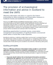 Guidance Note: The Provision of Archaeological Information and Advice in Scotland to meet the UKFS