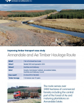 Improving Timber Transport Case Study: Annandale and Ae Timber Haulage Route