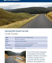 Improving Timber Transport Case Study: Craik Forest
