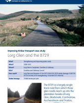 Improving Timber Transport Case Study: Lorg Glen and the B729
