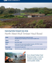 Improving Timber Transport Case Study: North West Mull Timber Haul Road