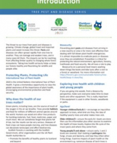Introduction and glossary for tree pests and diseases info sheets