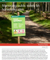 Managing Public Safety on Harvesting Sites