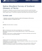 Native Woodland Survey of Scotland: Glossary of Terms