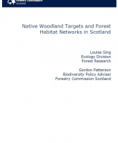 Native Woodland Targets and Forest Habitat Networks in Scotland