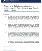 Planting Caledonian Pinewoods: Reducing Risks from Dothistroma Needle Blight