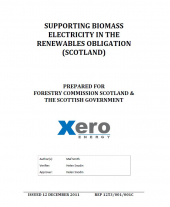 Policy Analysis Supporting Biomass Electricity in the Renewables Obligation (Scotland)