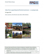 Value from Supporting Local Forestry Businesses: A Scoping Study