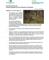 Forest Operations and Wildcats in Scotland
